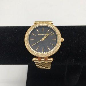 Michael Kors Darci Black Face Gold Watch